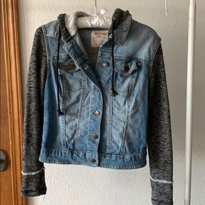 Hoodie Denim Sweater Jacket